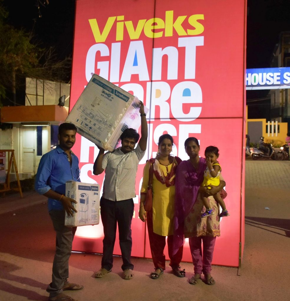 Happy Shoppers at Viveks Giant Warehouse Sale