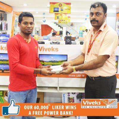 Our 60,000th Liker Mr. Saravanan Wins a Free Power Bank.